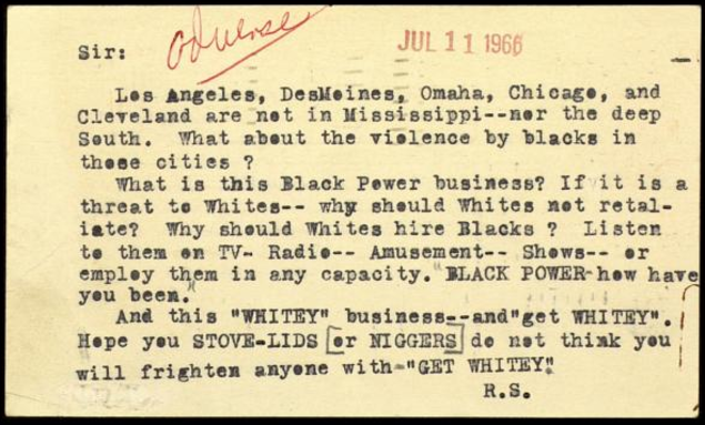 Dr. King hate mail.png